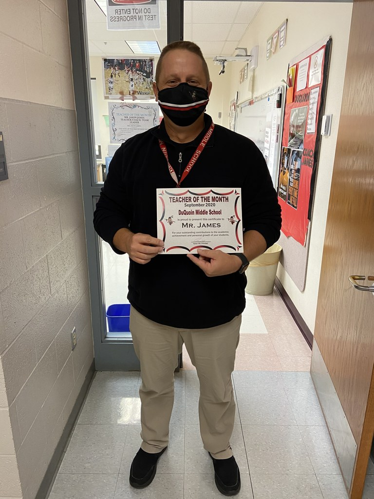 Mr. James - DMS Teacher of the Month