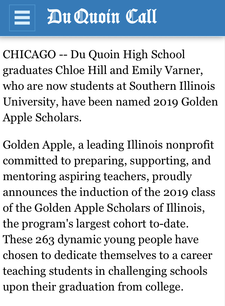Golden Apple Scholars